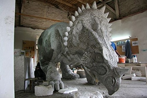 gartenfiguren kaufen triceratops dinosaurier. Black Bedroom Furniture Sets. Home Design Ideas
